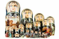 Matryoshka Russian Traditional 30pcs The dashing three