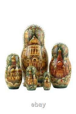 Matryoshka Russian Traditional 5pcs Hand painted Russian troikas