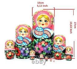 Matryoshka, Russian doll handmade 10 piece