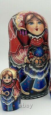Matryoshka, Russian nesting dolls, handmade