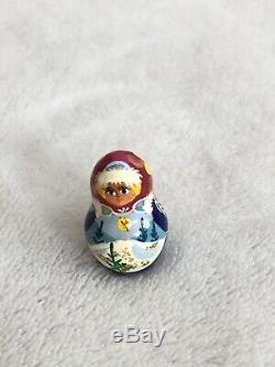Matryoshka Signed Russian Nesting Doll Morozko Fairytale Father Frost 7 Piece