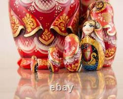 Matryoshka doll red The Humpbacked Horse, Nesting doll, Russian dolls