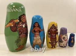 Moana Walt Disney Animation Cast & Crew WDAS Russian Matryoshka Nesting Doll Set