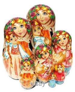 Mother 7-Piece Russian Babushka Matryoshka Stacking Nesting Doll gift