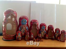 Museum Quality Russian Icons Style 20 Nest. Doll Holy Faces And Icons 16