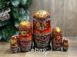 Nest Doll Russian Fairy Tale Matryoshka Babushka Doll Russian Gift 5 Pieces