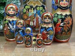 Nesting Doll, 5 pieces, Matryoshka Russian Nesting doll, Babushka doll