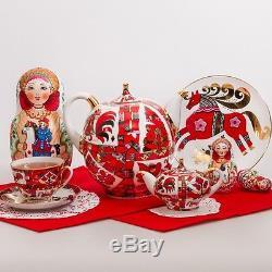 Nesting Doll Wooden Matryoshka Russian Doll Hand Painted Horse 7 pcs 9'