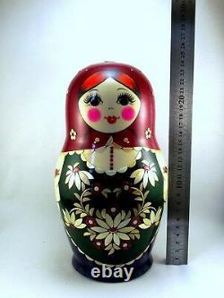Nesting Dolls Russian Matryoshka Traditional Babushka Stacking Wooden New set 12