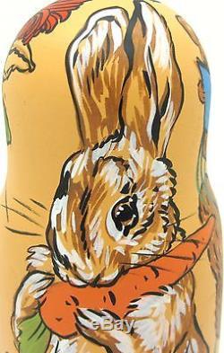 Nesting Russian Dolls Matryoshka 3 PETER RABBIT Benjamin Bunny Samuel Whiskers