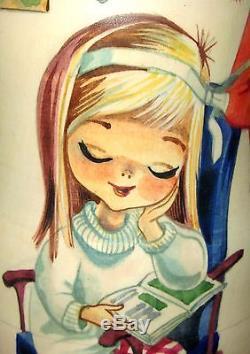 Nesting Russian Dolls Matryoshka 5 GALLARDA Vintage Big Eyed Girls Boys Postcard