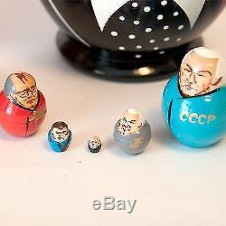 Nesting doll Lenin and other Russian Political Leaders matryoshka dolls m1022