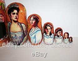 Nesting doll Romanov family. Russian imperial family matryoshka dolls m987