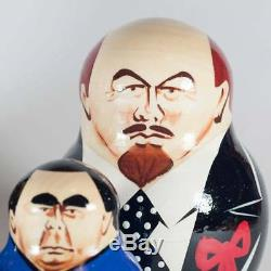 Nesting doll Stalin and other Russian Political Leaders matryoshka dolls 530p