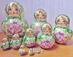 Nesting doll russian matryoshka dolls babushka Spring handmade m961