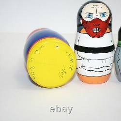 Nesting dolls Horror Movie Villains russian doll matryoshka hand-painted signed