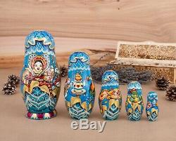 Nesting dolls, Ooak doll, Matryoshka, Russian doll, Babushka doll, Wooden dolls