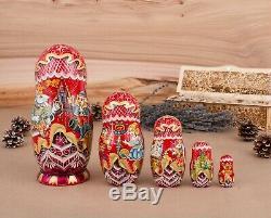 Nesting dolls, Russian doll, Russian Matryoshka, Nutcracker, Christmas gift