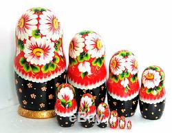 Nesting dolls Summer 10pcs/10 handmade collectible russian matryoshk m323
