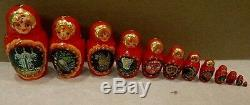 New Very Large 30 Pcs Nest Russian Nesting Doll Fairytales Very Unique