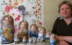 New exclusive 10 in 1 Nesting Dolls Russian Russia Matryoshka Royal family