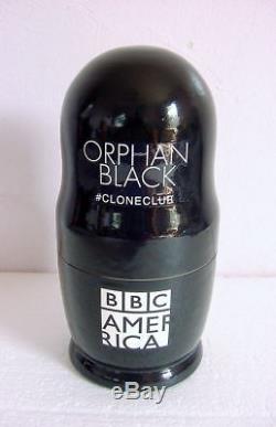 ORPHAN BLACK RUSSIAN NESTING DOLLS Wooden Set CLONES 5 BBC Promo MINT & RARE