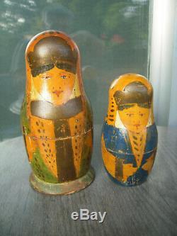 Old Vintage Russian nesting dolls