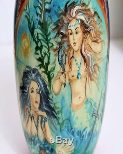 One of a kind 10pcs Russian Nesting Doll Little Mermaid by Frolova 10.5 inches