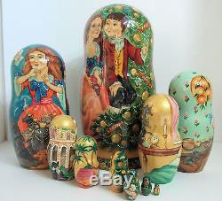 One of a kind Hand Painted Russian Nesting Doll The Nutcracker by Smirnova