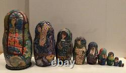 Ooak Russian 10 Nest. Doll Expectation By Stepan Goryachy Collectors 95