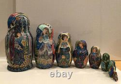 Ooak Russian 10 Nest. Doll The Rain By Stepan Goryachy Collectors 97
