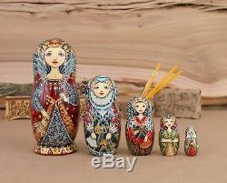 Ooak nesting dolls Handmade matryoshka Russian Empress Vintage nesting doll