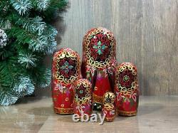 Original Matryoshka Ballet 5 pieces, Russian Nesting doll, Russian ballet