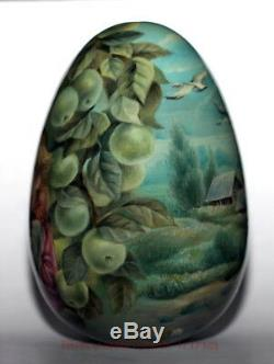 Original painting art roly poly EGG author doll Russian FAIRY TALE no nesting