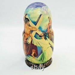 Passion Resurrection Jesus 5 PC Religious Christian 7 Nesting Doll Kiev Kyiv