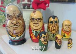 Poccnr 7 Piece Russian Nesting Dolls