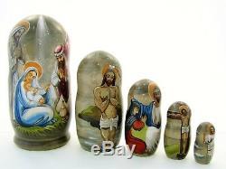 Poupées russes H19 peint main signé Matriochka Bonecas Russian Doll Matrjoschka
