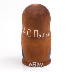 Pushkin Tolstoy Nesting Doll Matryoshka Stacking Doll Russian Writers Classics