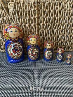 RUSSIAN MATRYOSHKA NESTING DOLLS MADE IN RUSSIA 5 pieces