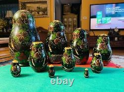 Rare 10 pieces Matryoshka 1994 Russian Nesting Dolls Fairy Tales, Signed