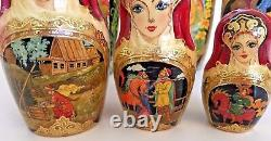 Rare Collectible Nesting Dolls 10 Piece Set Original Artwork