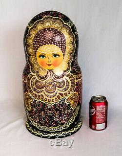 Rare Large Russian Handmade Nesting Doll 30 Pcs Matryoshka Matrioshka Babushka