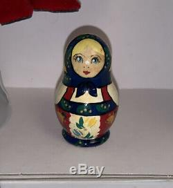 Rare Madame Alexander Russian Nesting Doll with Tags Stand #24150 In Box