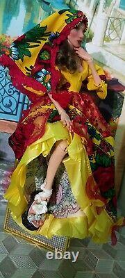 Rare Ooak Russian Art Bjd Doll 15 Dressed In Bohemian Outfit