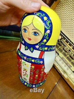Rare Vintage Madame Alexander Russian Matryoshka Nesting Doll Set with Tags
