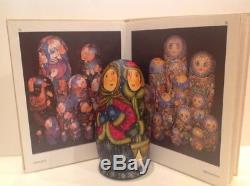 Rare Vintage Russian Fedoskino Style 7 Nest. Doll Winter T. Shiryaeva 8.5 90-s