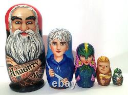 Rise of the Guardians toy Santa nesting dolls Set of 5