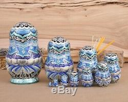 Russian Christmas matryoshka Custom nesting dolls Christmas gifts Art doll