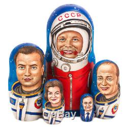 Russian Cosmonauts Nesting Doll Matryoshka Astronauts GAGARIN Stacking Doll