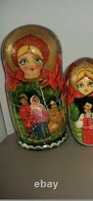 Russian Doll Within A Doll Ten Dolls Total. Color Red. Fairytale Design